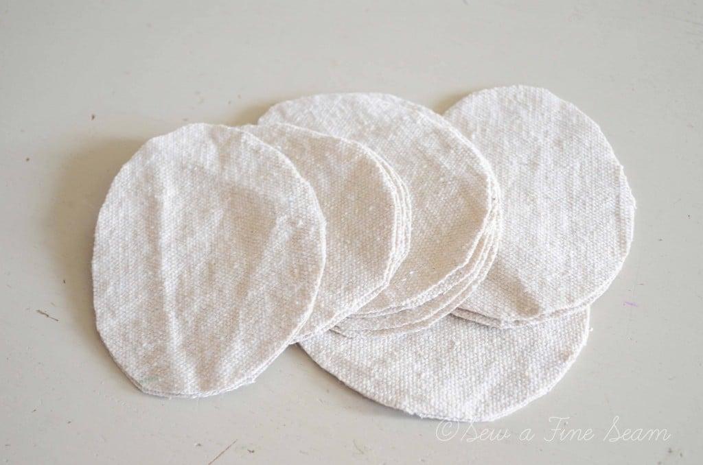 drop cloth egg shapes