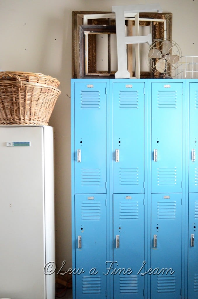 lockers for storage when you have no closets