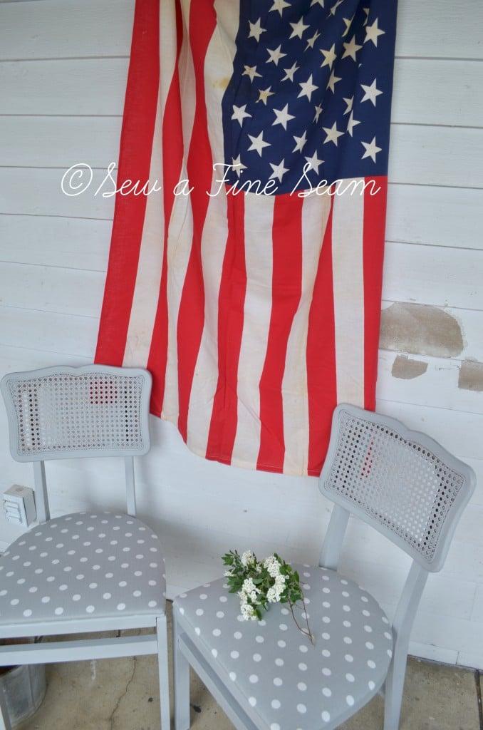 american flag vintage
