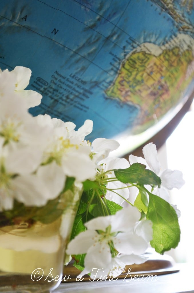 globe and flowers 5