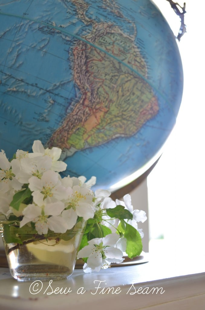 globe and flowers 7