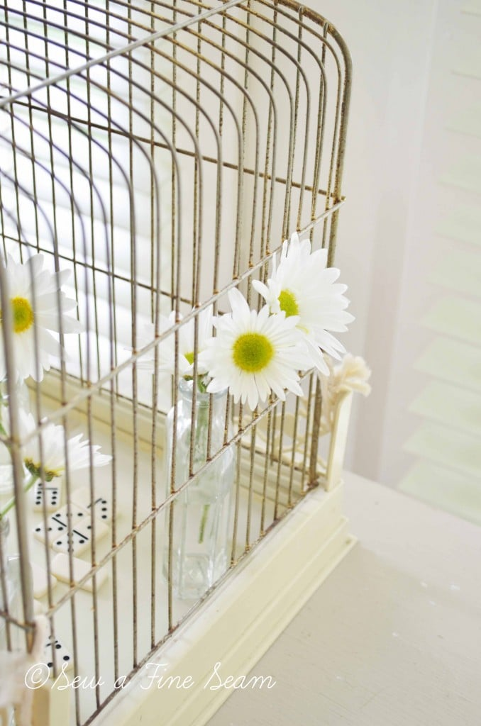 bird cage with daisys 12