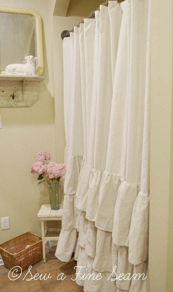 ruffled shower curtain 1