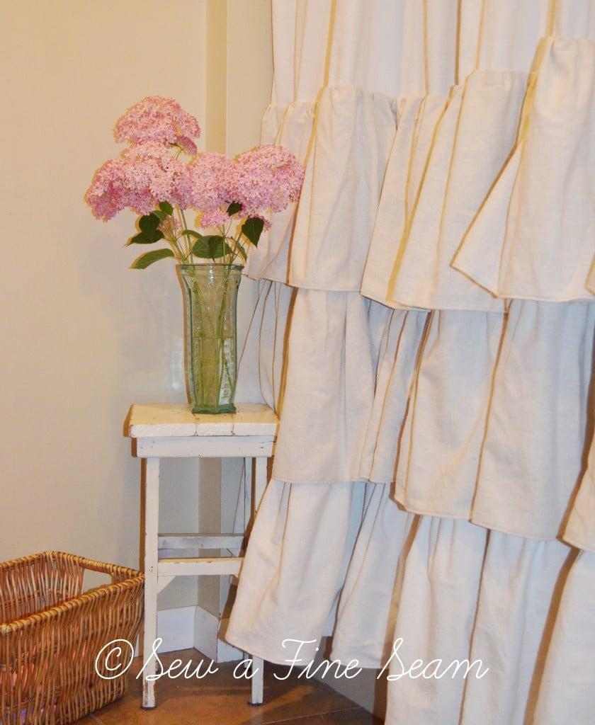 ruffled shower curtain 2