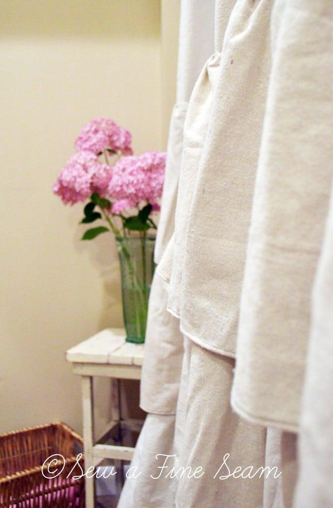 Ruffled Shower Curtain | Sew a Fine Seam