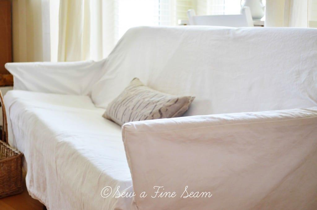 slipcovered sofa 2