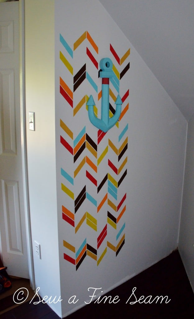 stenciled wall 13