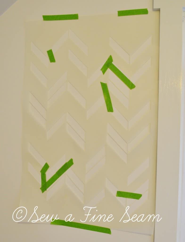 stenciled wall 3