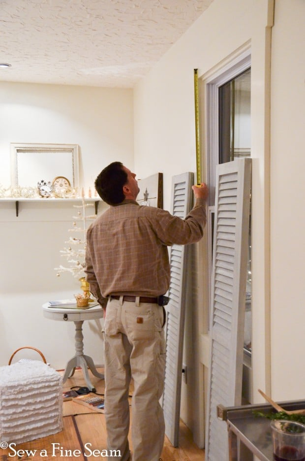 hanging shutters as window treatments