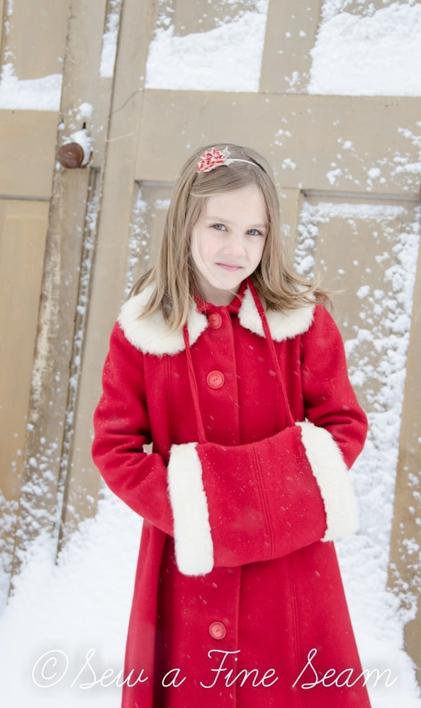 red coat in the snow-20