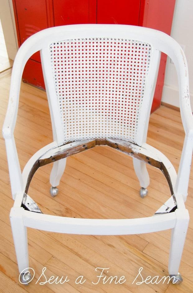 milk painted desk chair-3