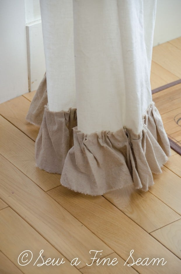 adding a ruffle to curtains-7