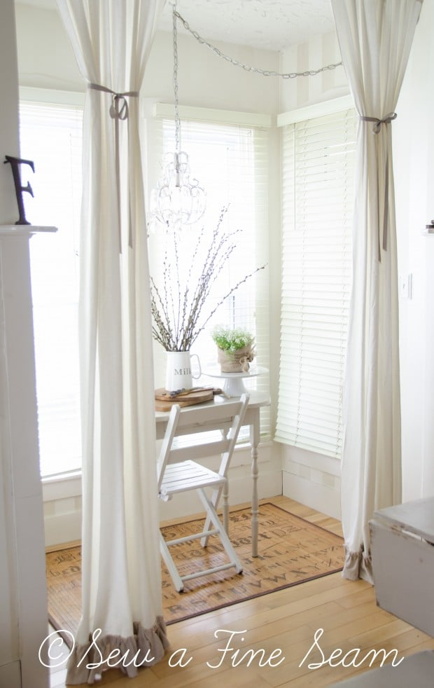adding a ruffle to curtains-9