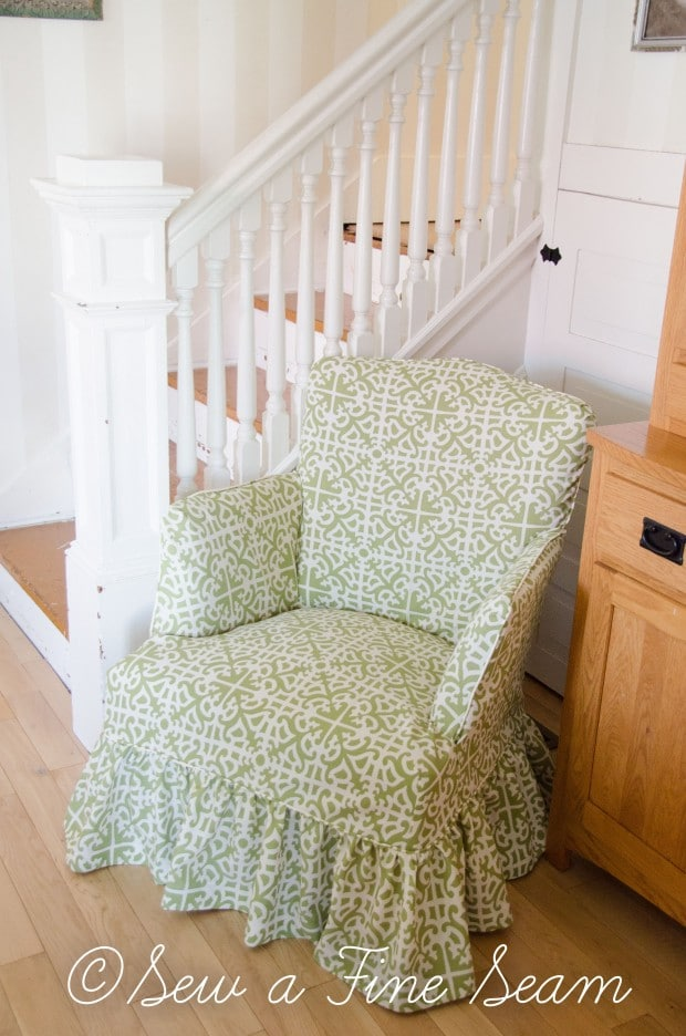 slipcoverd chair in sunbrella fabric-5