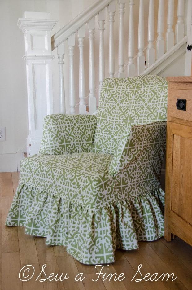 slipcoverd chair in sunbrella fabric-6