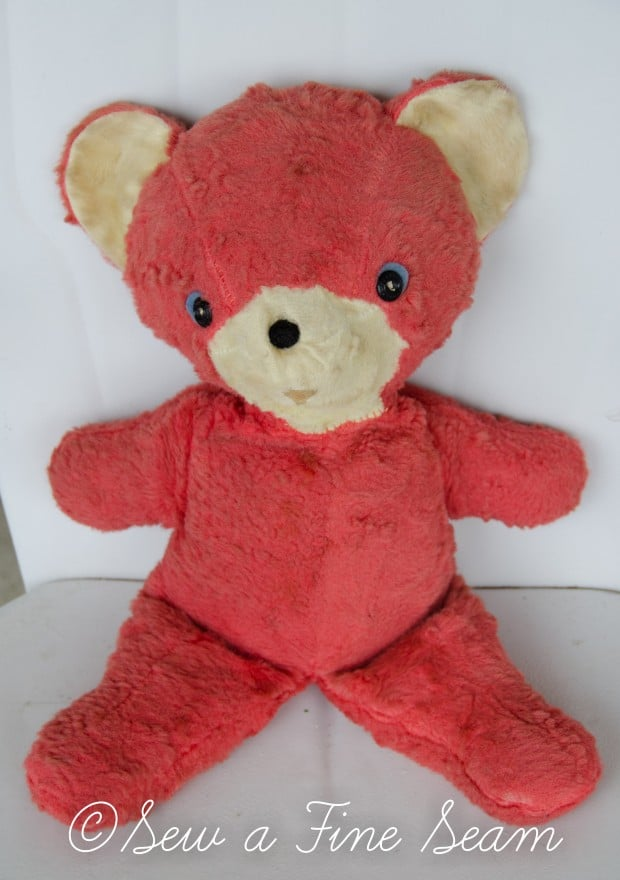 how to clean and restuff a vintage stuffed toy (1 of 28)