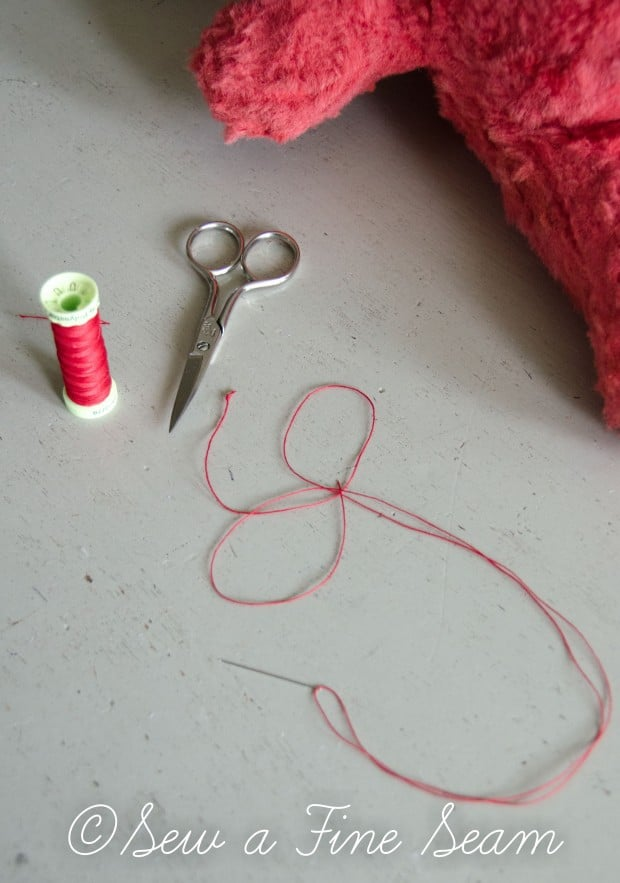 how to clean and restuff a vintage stuffed toy (19 of 28)