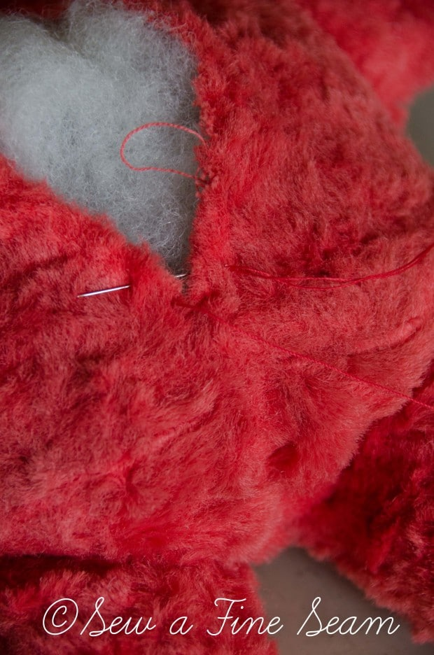 how to clean and restuff a vintage stuffed toy (21 of 28)