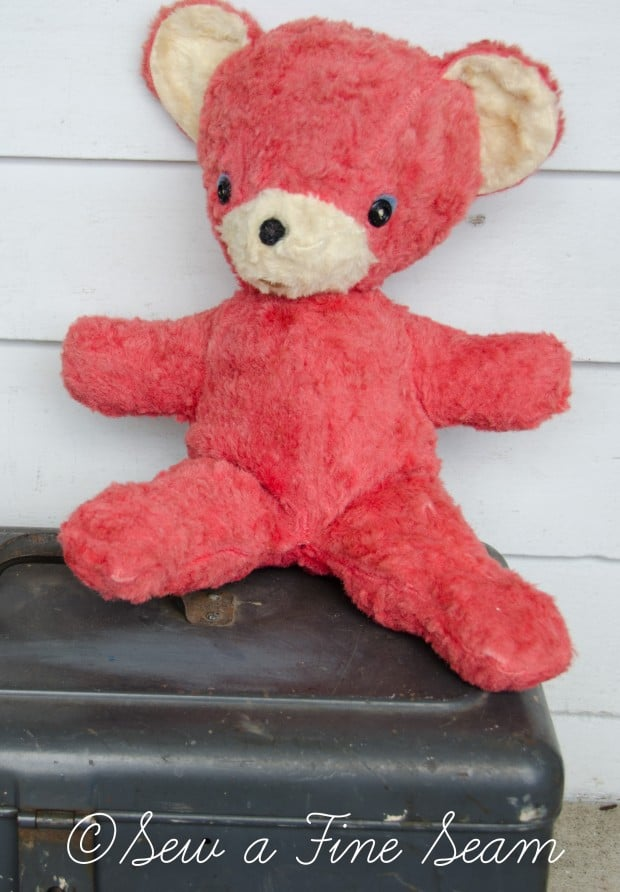 how to clean and restuff a vintage stuffed toy (24 of 28)