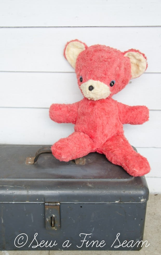 how to clean and restuff a vintage stuffed toy (25 of 28)