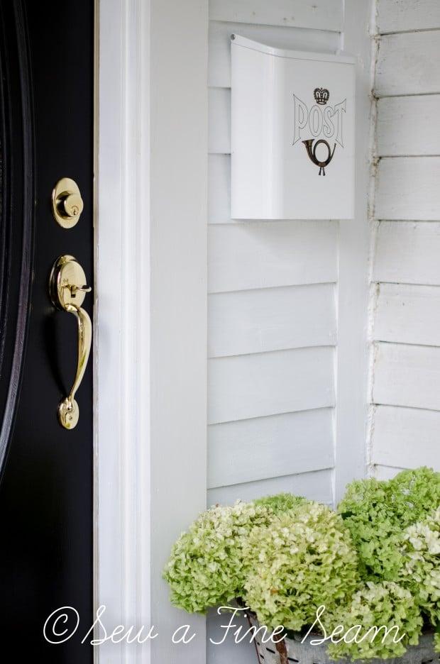 front door paint - black