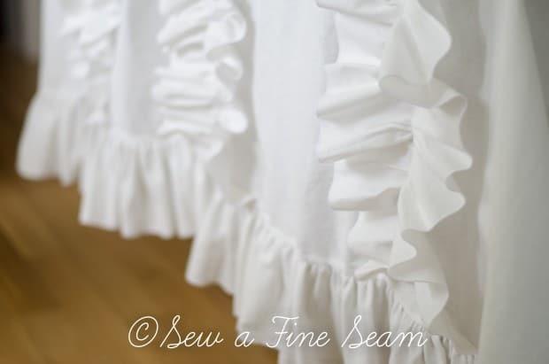 white ruffled curtains (1 of 2)