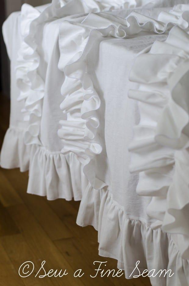 white ruffled curtains (2 of 2)