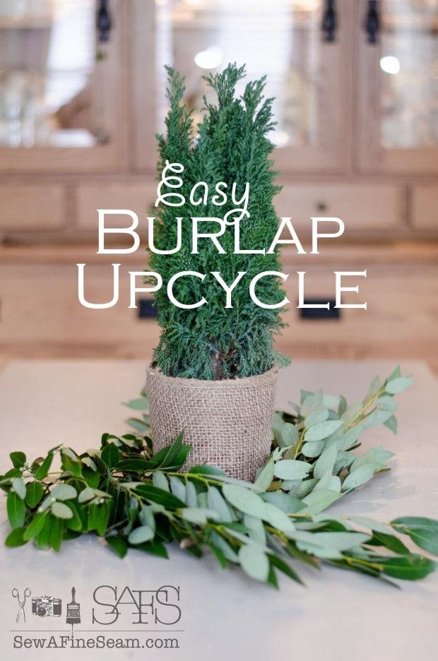 easy burlap upcycle