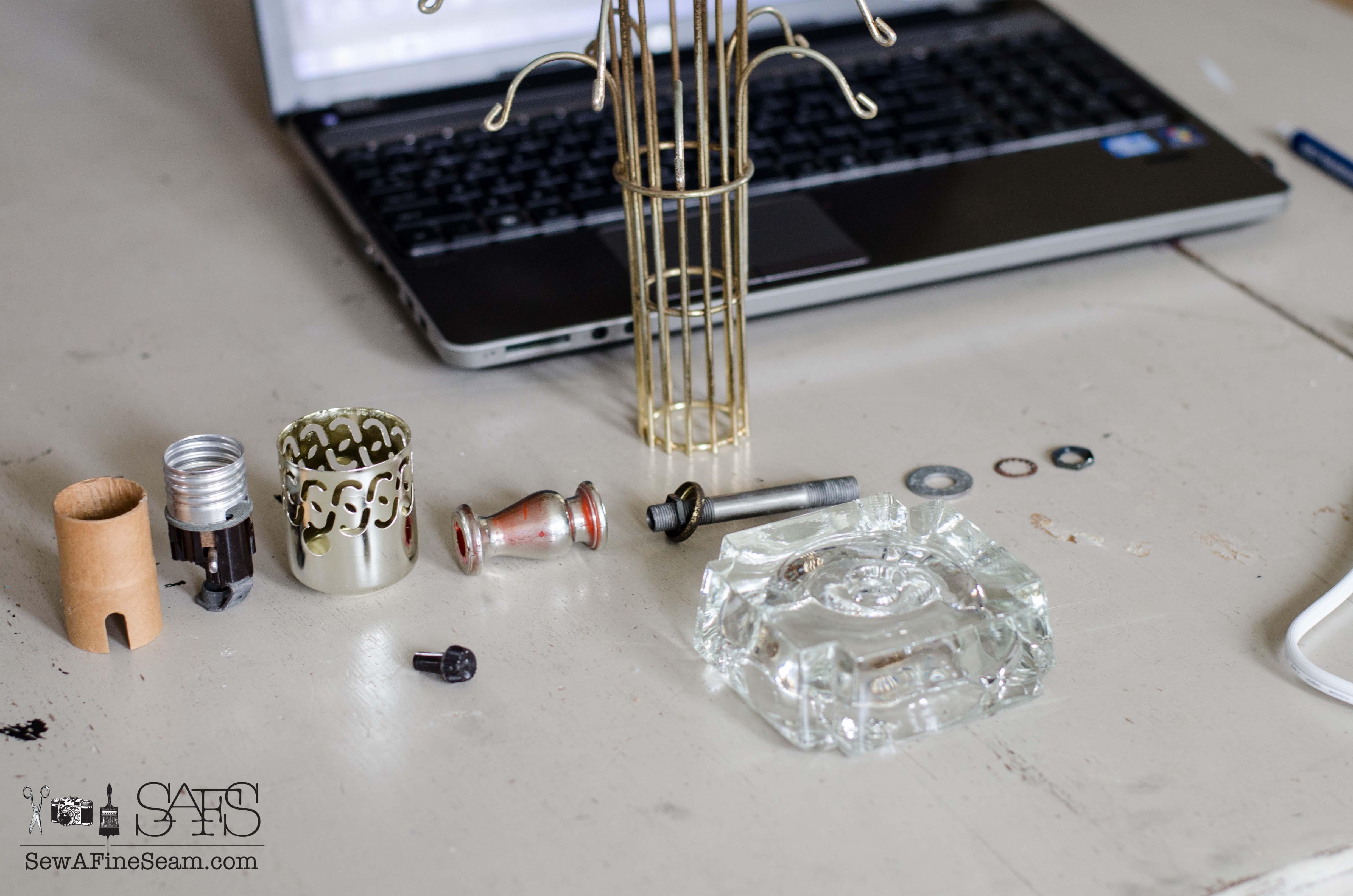 Rewiring a Vintage Lamp | Sew a Fine Seam