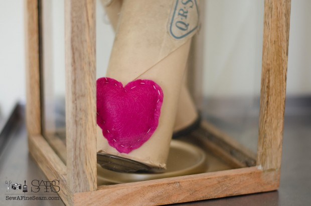 handmade felt heart made by my nine year old