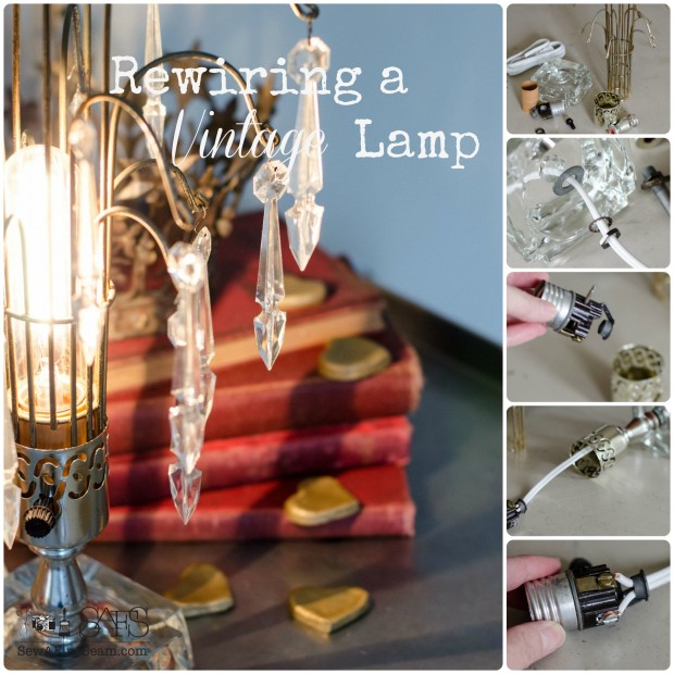 how to rewire a vintage lamp
