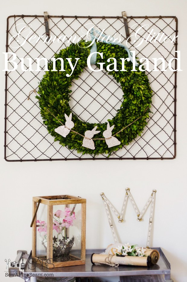 DIY German Glass Glitter Bunny Garland Tutorarial