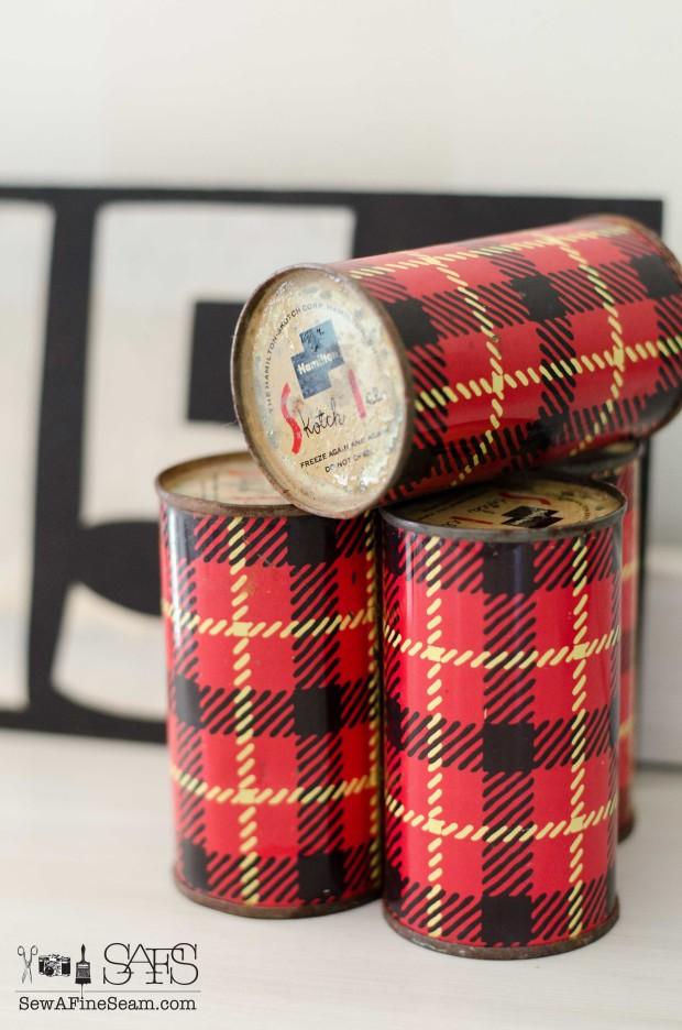 vintage plaid ice packs scottish plaid