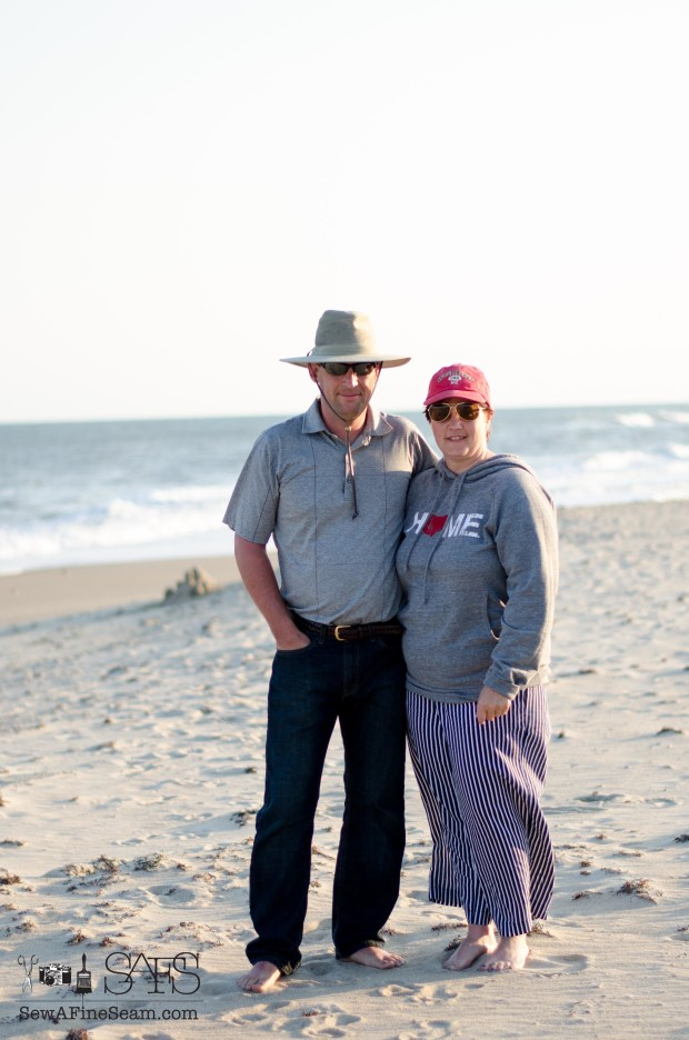 me and my hubby on the beach