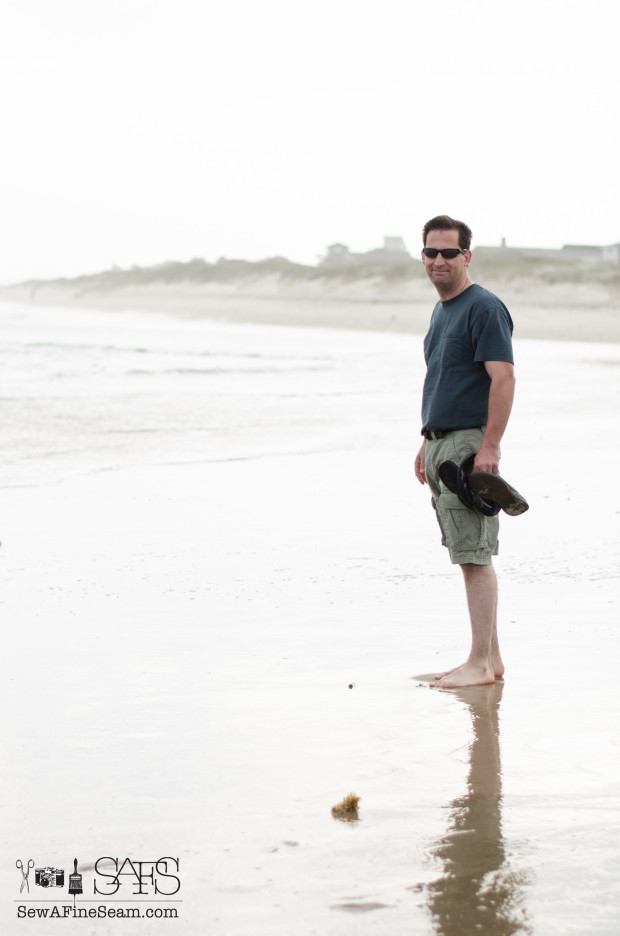 my hubby at the beach