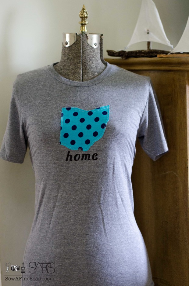 home t-shirt with state