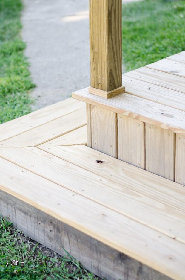 porch makeover step
