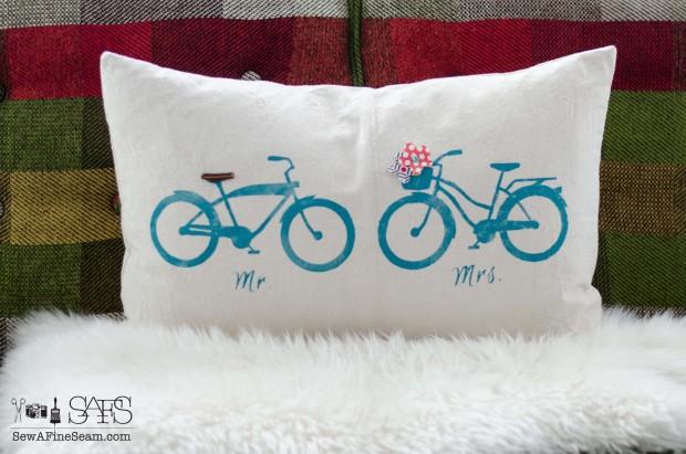 Mr and Mrs Bikes in aqua