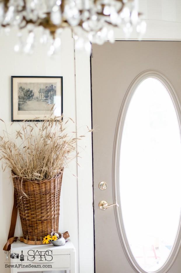 wheat as summer decor - sew a fine seam