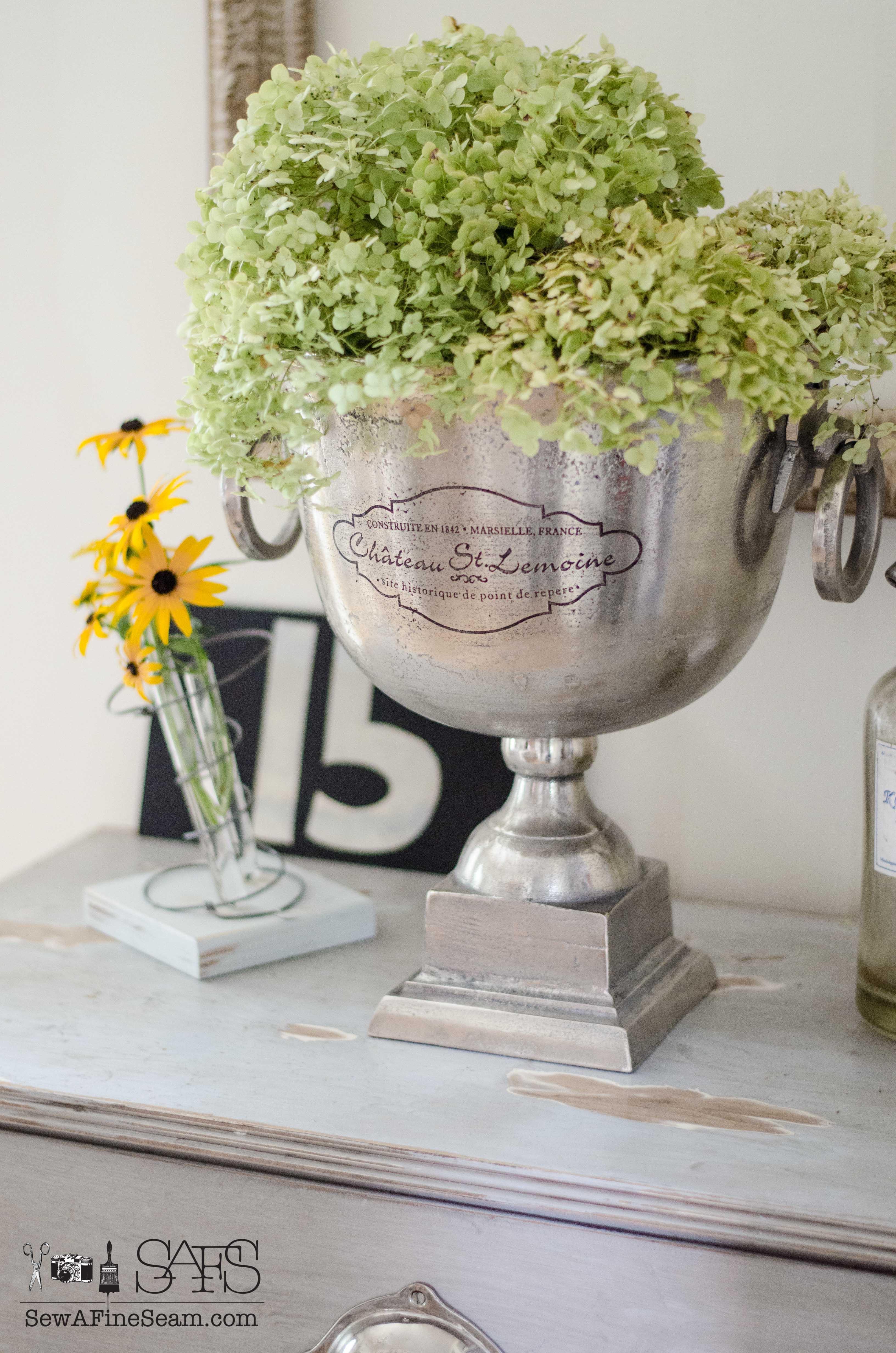 How to Create a Vintage Bedspring Vase photo