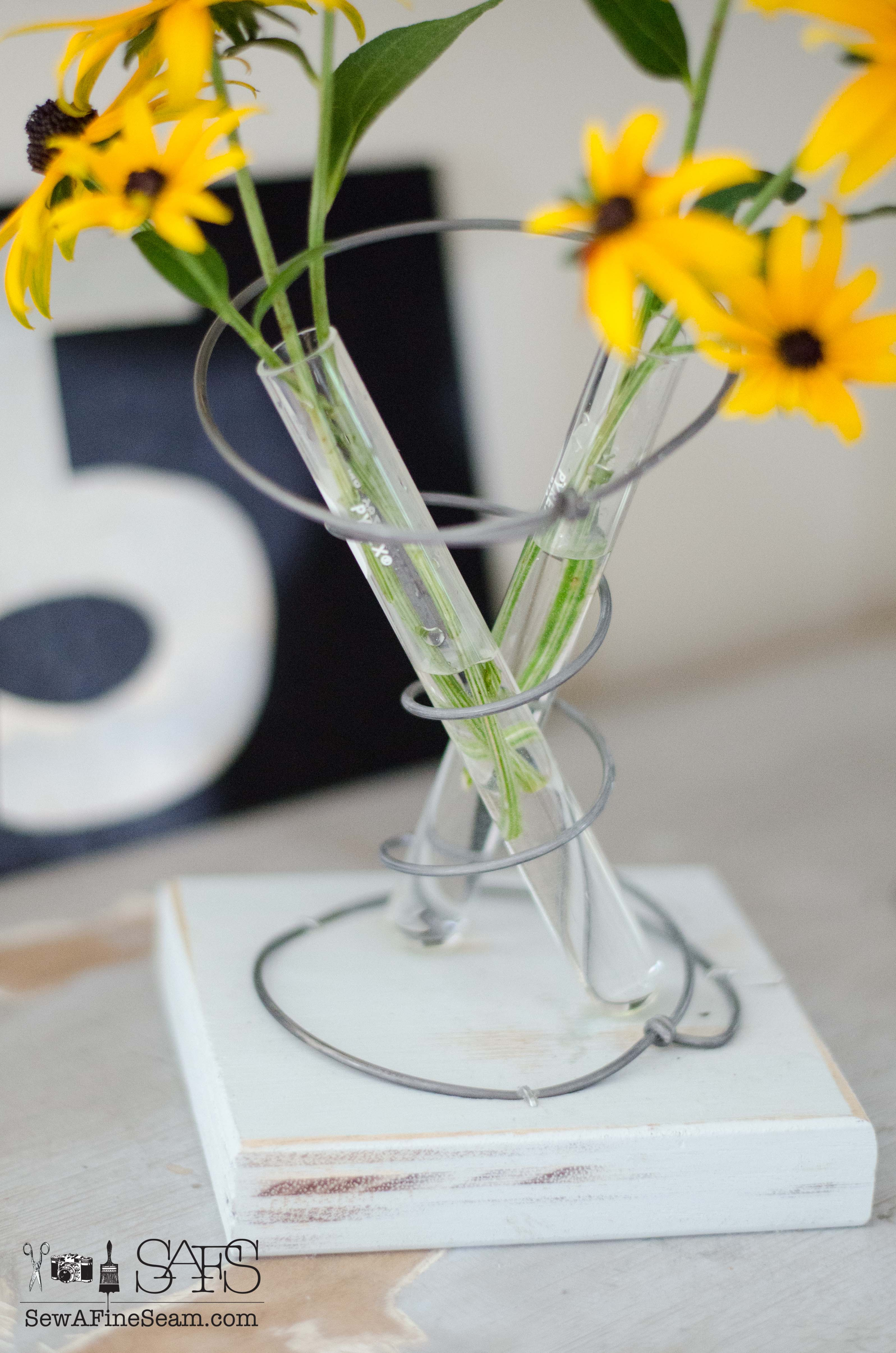 Test Tubes And Bedspring Flower Vase Sew A Fine Seam