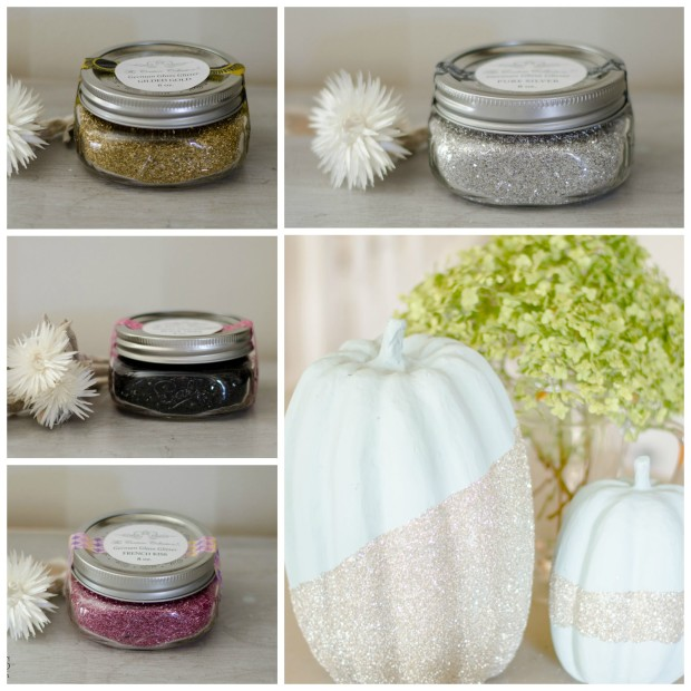 german glass glitter available in fun colors for craft projects and decor