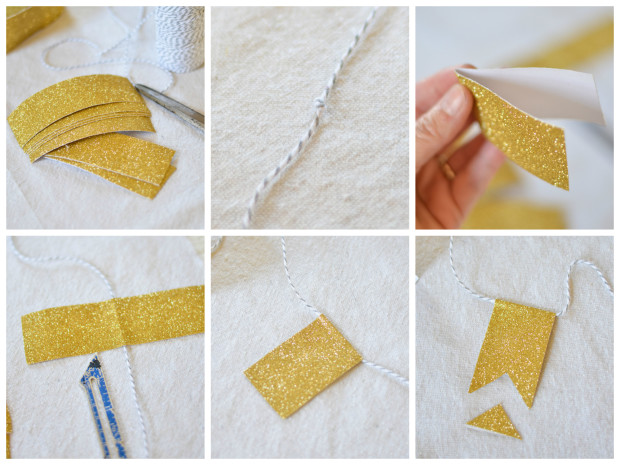 duct tape pennant banner tutorial