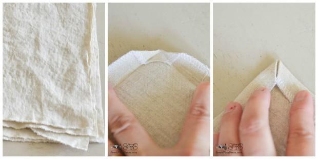 hemstitched napkins tutorial